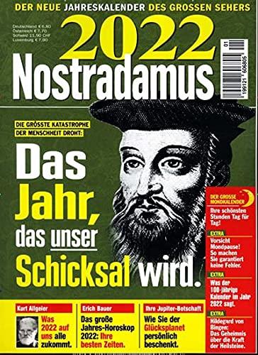 """Nostradamus Jahreskalender 1/2022 """"Das Jahr..."""""""