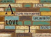 ポスターデカール わたしは、あなたを愛しています 3D 壁画壁紙デザインのカスタムメイド壁画リビングルームホーム壁紙装飾-450X300cm (177X118inch)