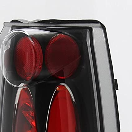 Spec-D Tuning Black Housing Clear Lens Tail Lights for 1988-1998 GMC Sierra Yukon C10 Blazer Suburban Tahoe Taillights Assembly Left Right Pair