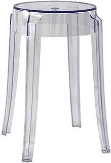 Stool Tabouret en Plastique, Acrylique Transparent À Manger Chaise Cristal Tabouret Tabouret De Bar Maison Chaise Créative...