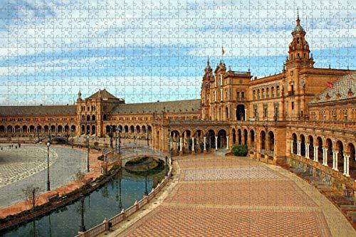España Plaza Sevilla Rompecabezas para adultos 1000 piezas Regalo de viaje de madera Recuerdo
