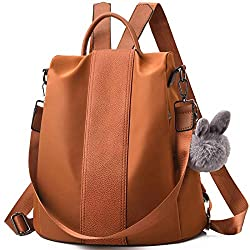 Charmore Women's Backpack Waterproof Nylon School Bag Anti Theft Daypack Shoulder Bag Lightweight Travel Backpack