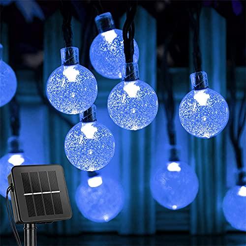 Starsmyy Catena Luminosa Esterno, LED Luce Stringa Solari Lucine 60 LED Lampadines Ip65 Impermeabile Luci da Esterno per Festa Natale Giardino Matrimonio