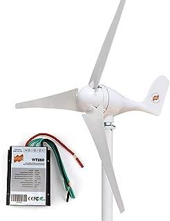 MarsRock Small Wind Turbine Generator AC 12Volt or 24Volt,400W Economy Windmill for Wind Solar Hybrid System 2m/s Start Wind Speed 3 Blades (400Watt 12Volt)