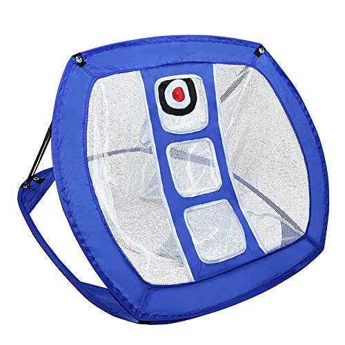 SKAISK Pop Up Golf Chipping Net, Golf Hitting Net,Indoor/Outdoor Golfing Target Net for Accuracy and Swing Practice,Blue