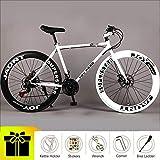YI'HUI Vantage Mens/Womens Hybrid Road Bike, Disc Brakes, Aluminum Frame, Multiple Colors,604