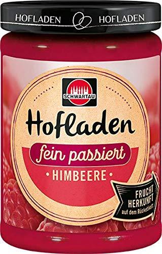 Schwartau Hofladen Himbeere cremig fein, Fruchtaufstrich mit Herkunftsfinder, 8er Pack (8 x 200 g)