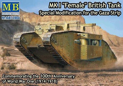 Master Box Model Kit - MKI Female British Gaza Strip Tank - 1:72 Scale - 72004