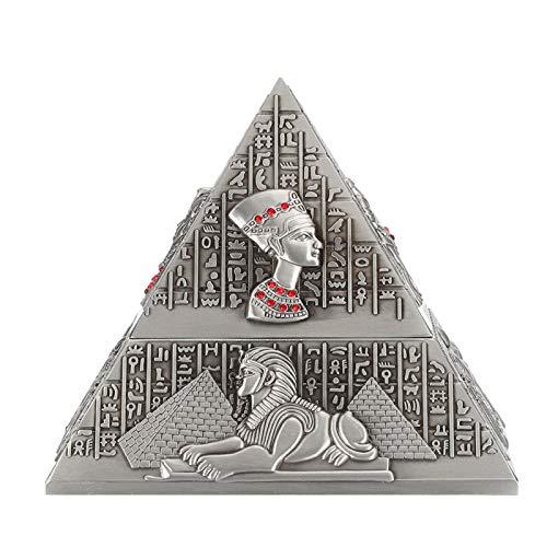 Cenicero piramidal Cenicero de Metal Retro Creativo Escritorio para decoración de Mesa de Hotel en casa Adornos de Oficina(Ancient Tin)
