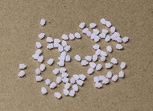 Winwill 10pcs Nuevo 7 dientes 0.3 Módulo Coreles Motor de plástico rueda de engranaje para piezas DIY