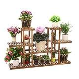 Multi-Tier fleur/plantes porte-étagères/étagère en bois de jardin plante affichage étagères de...