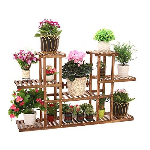 Multi-Tier fleur/plantes porte-étagères/étagère en bois de jardin plante affichage étagères de pot Rack extérieur/intérieur porte étagère de rangement de jardin en bois pour salon jardin bureau