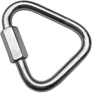 Flomore Delta Quick Link 304 Stainless Steel Triangle Quicklink Chain Connector Screw Lock Carabiner