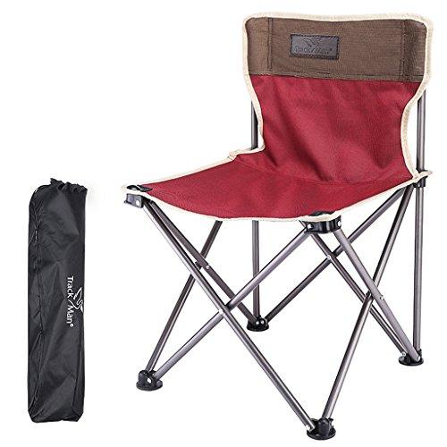 MUTANG Outdoor Camping Loisirs Portable Mazar Maison légère Chaise Pliante pêche Chaise Pliante Tabouret Vert Rouge (Couleur : Rouge)