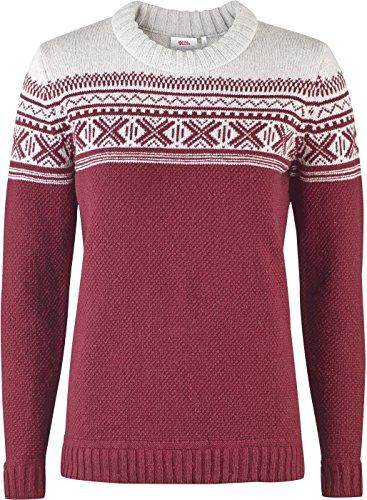 Fjallraven dames Ovik Scandinavische trui - rood -