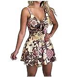 VCAOKF Mono para mujer con estampado de lazos, estilo informal, holgado, sin mangas, cuello en V, estilo informal, con arco, sin mangas Rosa. XL