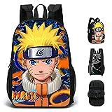 ZBK Anime Game Uzumaki Naruto Theme - Mochila escolar de doble cara, para estudiantes, niños, niñas y niñas, 5 colores