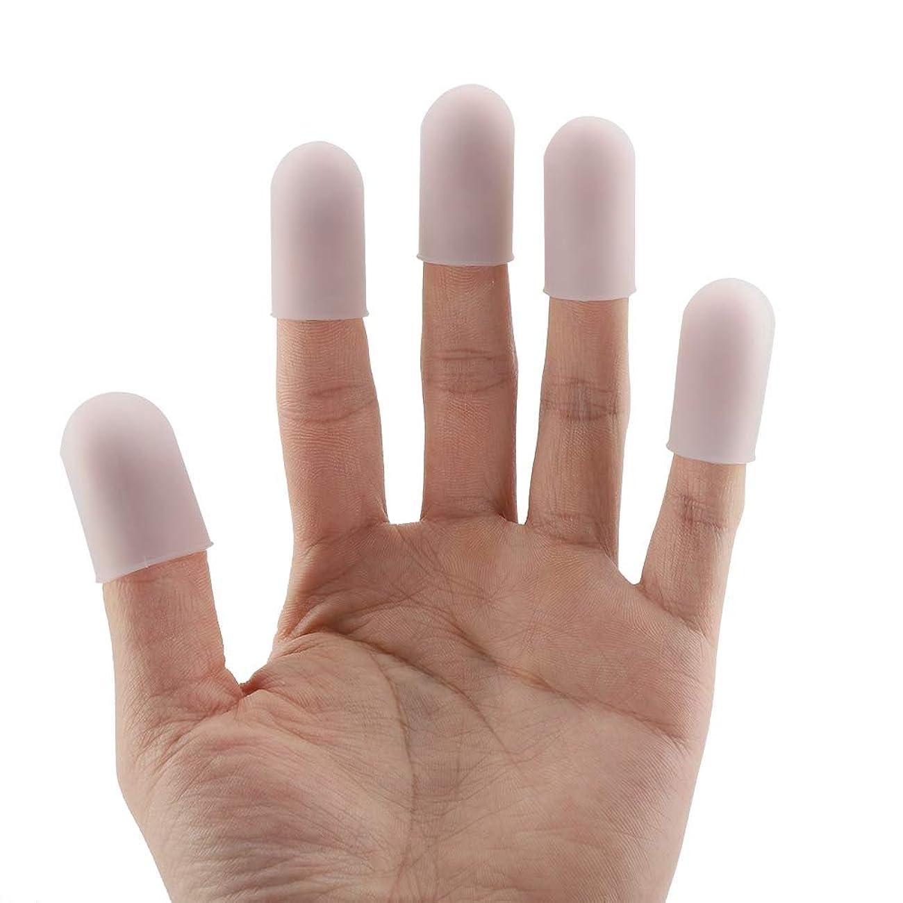後継バッテリー現実的SoarUp 親指プロテクター 調理用指先カバー 指先カバー 食品用シリコーン製 再使用可能 コンパクト 幅広い用途 5個
