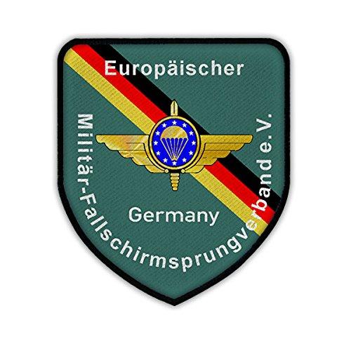 Copytec Patch/Aufnäher - Europäischer Militär - Fallschirmsprungverband eV European Paratrooper EMFV Fallschirmjäger Fallschirmspringer Bundeswehr Mitglied Abzeichen Wappen #17356