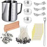 tJexePYK Fabricación de la DIY Kit de Cera de la Set Velas artesanales Herramientas de Bricolaje Pot Copa,Set