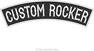Custom Embroidered Top Rocker Sew on Patch Motorcycle Biker Badge 13