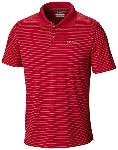 Columbia Men's Utilizer Stripe Polo III, Mountain red, XL