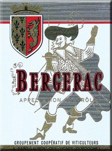 FRANSE VINTAGE MAGNET 6x8cm BERGERAC GRAND CRU WIJN - MM1423