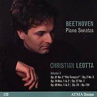 Beethoven Piano Sonatas, Vol. 3 - featuring Christian Leotta by Christian Leotta (2010-06-29)