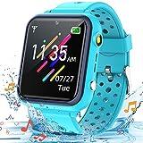 Smooce Reloj Inteligente para niños,Smartwatch para Niños de música a Prueba de Agua para teléfono móvil para niños niña niño(Que Incluye Micro SD de 1 GB) (Azul)