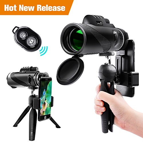 Big Save! Monocular Telescope,12x50 High Power Waterproof Monocular Scope with Phone Mount & Tripod ...
