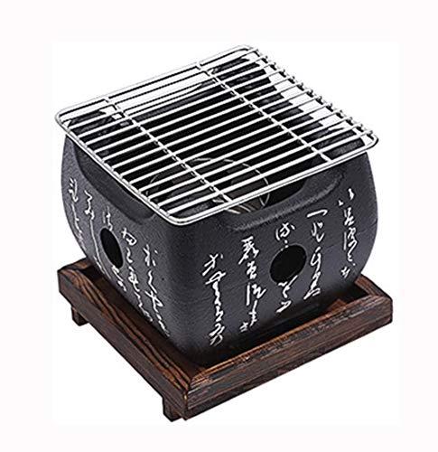 WXJHA Tragbarer Barbecue Style BBQ Grill mit Maschendraht-Grill und die Basis, für Yakiniku, Robata, Yakitori, Takoyaki Und Grill