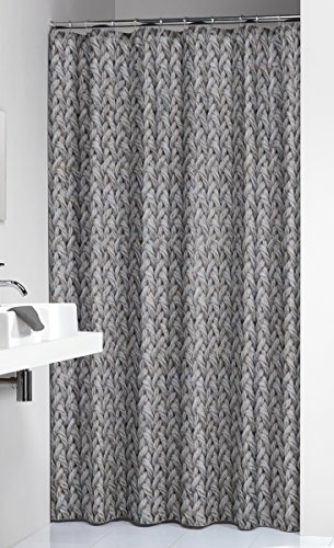 Sealskin douchegordijn, Polyester, Grijs, 180 x 200 cm