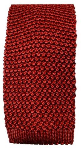 KJ Beckett Cravate orange brûlé soie tricoté de