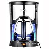 [Kitchen Flower]Cookin Mini Coffee Maker Espresso Machine Tea Pot Semipermanent Filter Blue Led 0.6L (4~6 CUPS) 220V