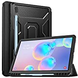 MoKo Funda para Galaxy Tab S6 10.5 SM-T860/T865 2019, [Protector de Pantalla Incorporado] Cubierta Anti-Rasguños con Auto Estela/Sueño y Soporte de Pencil para Galaxy Tab S6 10.5 2019 Tableta - Negro