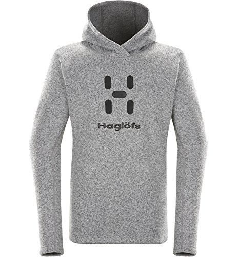 Haglöfs Swook Logo Sweat, Homme L Gris béton