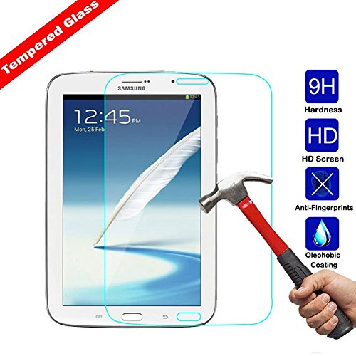 Kingsource Tempered Glass Screen Protector Film Compatible for Samsung Galaxy Note 8.0 inch GT - N5100 / N5110 [2.5D Round Edge] [9H Hardness] [0.33MM Thin][Crystal Clear]
