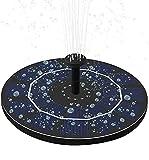 LUXJET 2.5W Solarbrunnen für Außen, Wasserspiel Garten, Solarpumpe Brunnen, Solarpumpe Teich mit Akku, Solarpumpe Miniteich, Solarpumpe Brunnen mit Akku, Solarpumpen für Gartenteich