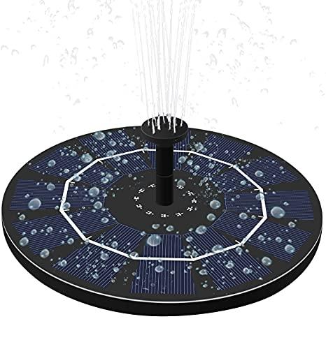 LUXJET 2.5W Solar Bomba de Agua, Fuentes solares flotantes para estanques, Kit de Bomba de Agua de Fuente Solar para baño de Aves con batería de Respaldo Incorporado