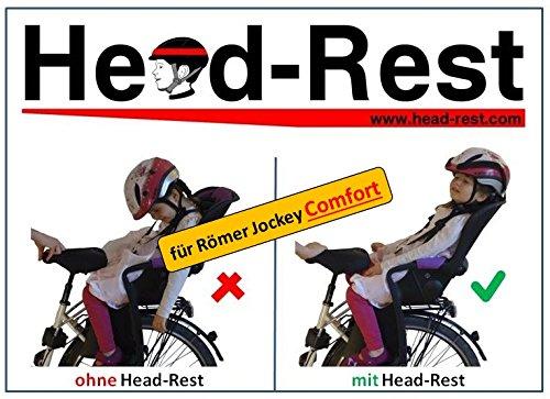 HEAD-REST Comfort Kinder Kopfhalterung u. Nackenstütze zum Schlafen im Fahrradsitz Römer Jockey Comfort Komplettset