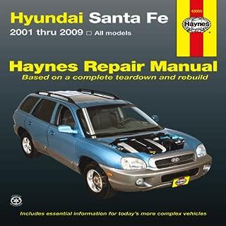 Hyundai Santa Fe: 2001 thru 2009 (Haynes Repair Manual)