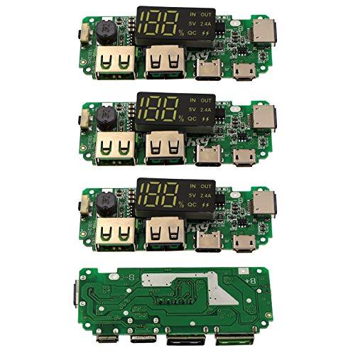 Generic 4 Piezas 5V 2.4A Tarjeta de Carga, módulo de Fuente de alimentación móvil Placa de protección, Doble USB Cargador de batería de Litio
