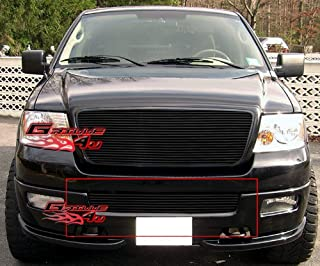 APS Compatible with 2004-2005 Ford F-150 Lower Bumper Black Billet Grille Insert F85351H