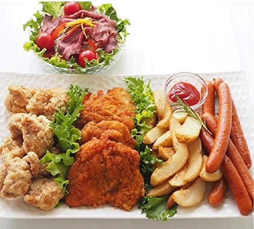 [スターゼン] フライドチキン ウインナー 竜田揚げ 訳ありローストビーフ フライドポテト 5種 詰め合わせ パーティーセット 冷凍食品 業務用 大容量 お惣菜 おかず