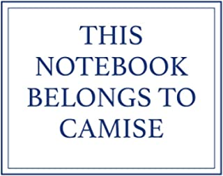 This Notebook Belongs to Camise