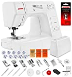 Janome HD3000 Heavy Duty Sewing Machine w/Hard Case + 1/4' Seam Foot + Blind Hem Foot + Overedge Foot + Rolled Hem Foot + Zipper Foot + Buttonhole Foot + Leather and Universal Needles + More!