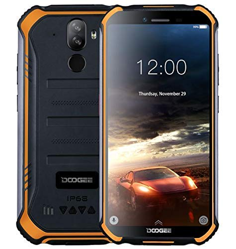Smartphone sólido DOOGEE S40 4G Android 9.0 sólido - 5.5 '' HD (Gorilla Glass 4) IP68 / IP69K impermeable al aire libre DUAL SIM Teléfono móvil militar, 4650mAh batería, Quad-Core 1.5GHz 3GB + 32GB, NFC,
