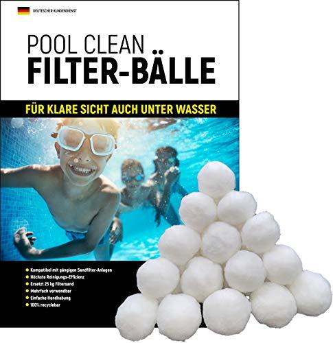 IBR Pool Clean Filterballs, Filterbälle für Sandfilteranlagen zur professionellen Schwimmbad- und Poolreinigung, 700g