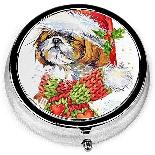 Navidad Shih Tzu perro bufanda de invierno novedad vintage c