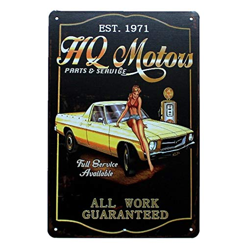 Ubranded Tin Sign Motor Oil Plaque Metal Vintage Shabby Chic Retro Plate For Wall Pub Cafe Home Art Decor Iron Poster 20x30cm 9034
